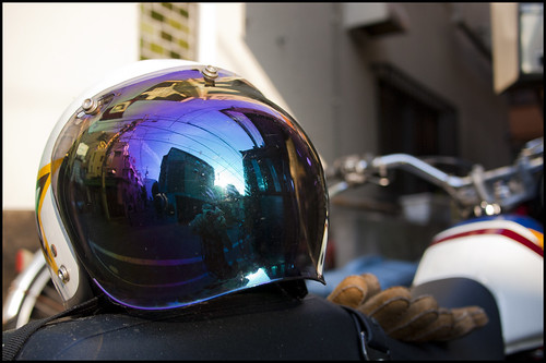 Helmet reflection by Eric Flexyourhead (almost caught up!)