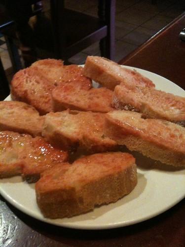 Zaragoza | La Jamonería | Pan con aceite y tomate