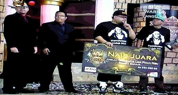 Kumpulan Boboi naib Juara Maharaja Lawak Mega