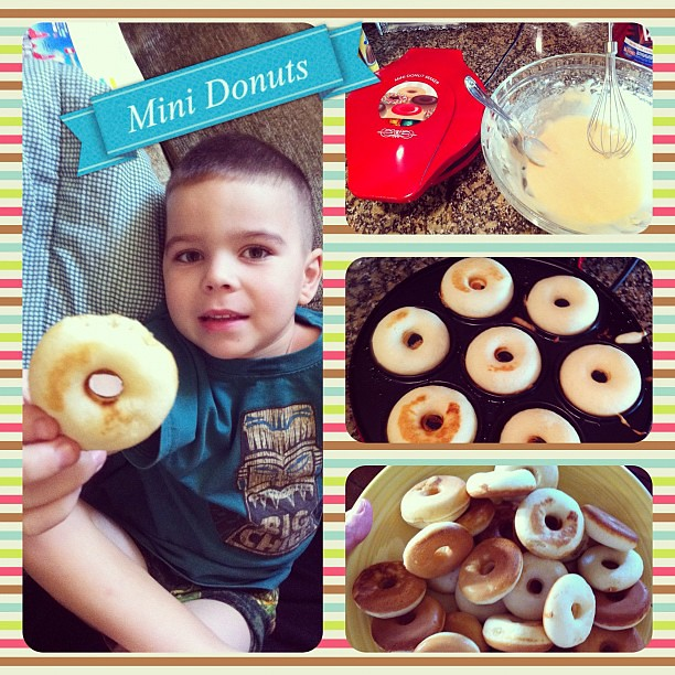 Project 365 364/365: Our family got a mini donut maker for Christmas! Made our first batch today!