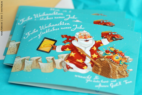 My illustration and design for Christmas card