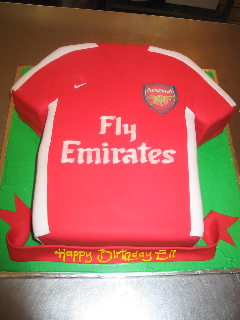 Arsenal Shirt Birthday Cake