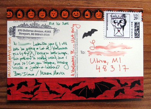 Halloween postcard with Halloween tape 1