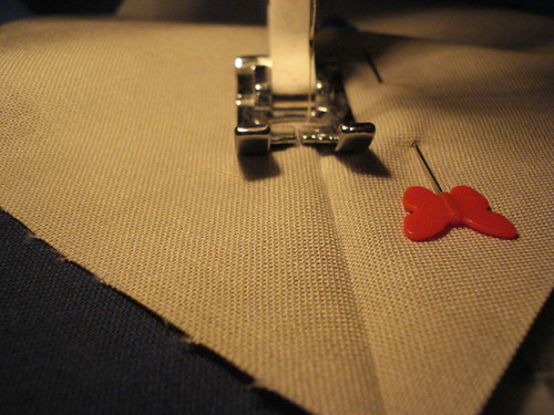Stitch along line