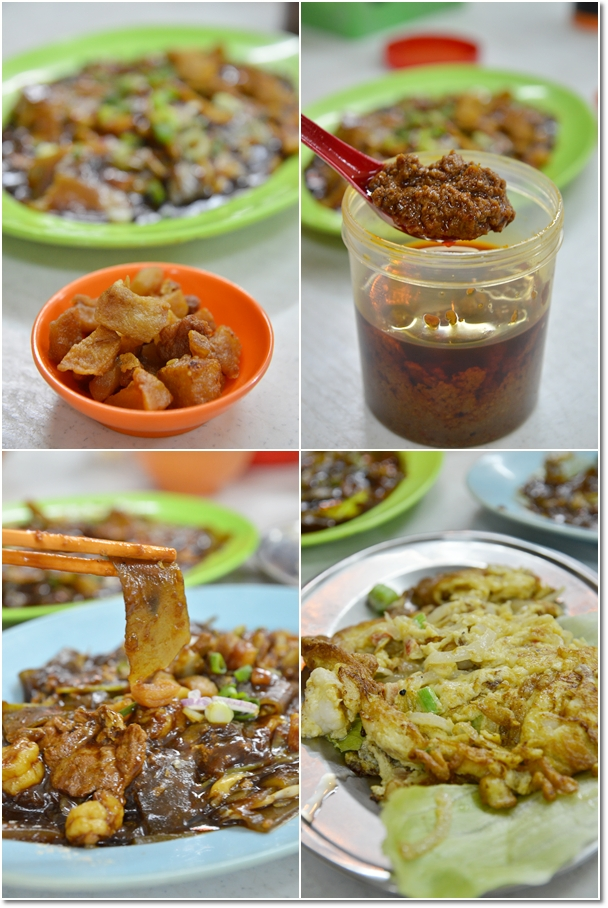 Lard Fritters, Sambal Belacan, Tapioca Noodles, Omelette