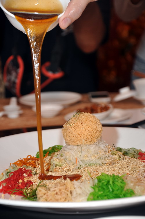 syruping the Yee Sang