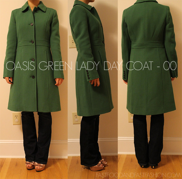 J Crew LADY DAY OASIS GREEN 00P