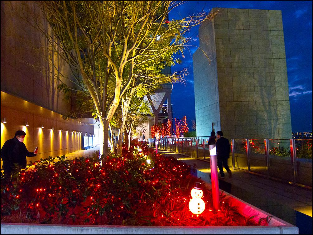 Decoraciones Navideñas En Las Terrazas De Jr Osaka Umeda