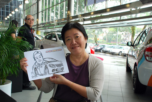Caricature live sketching for Tan Chong Nissan Almera Soft Launch - Day 1 - 11