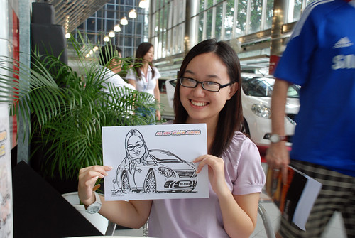 Caricature live sketching for Tan Chong Nissan Almera Soft Launch - Day 1 - 39