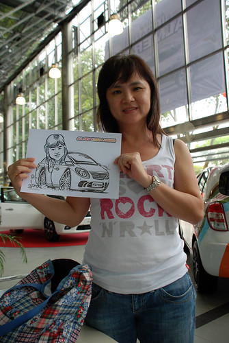 Caricature live sketching for Tan Chong Nissan Almera Soft Launch - Day 2 - 6
