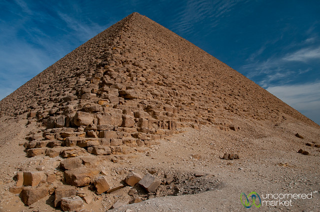 Red Pyramid, Up Close - Dahshur, Egypt