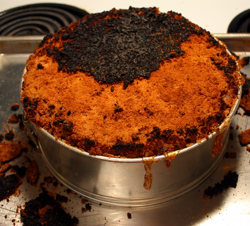 AC Cheesecake burnt
