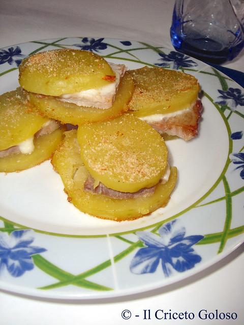 Sandwiches di patate, porchetta e caciotta 2