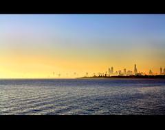 Sunset over Port Phillip Bay.