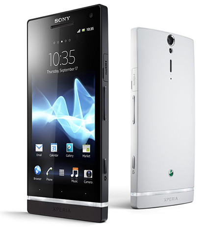 Sony Xperia S with 4.3-inch 720p screen, 1.5GHz dual-core processor and 12-megapixel camera.