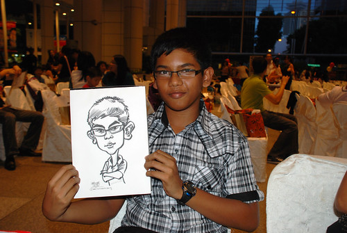 caricature live sketching for kidsREAD Volunteer Appreciation Day 2011 - 8