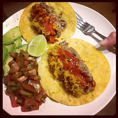 tostada, meal, breakfast, curry, omurice, taco, produce, food, dish, cuisine,