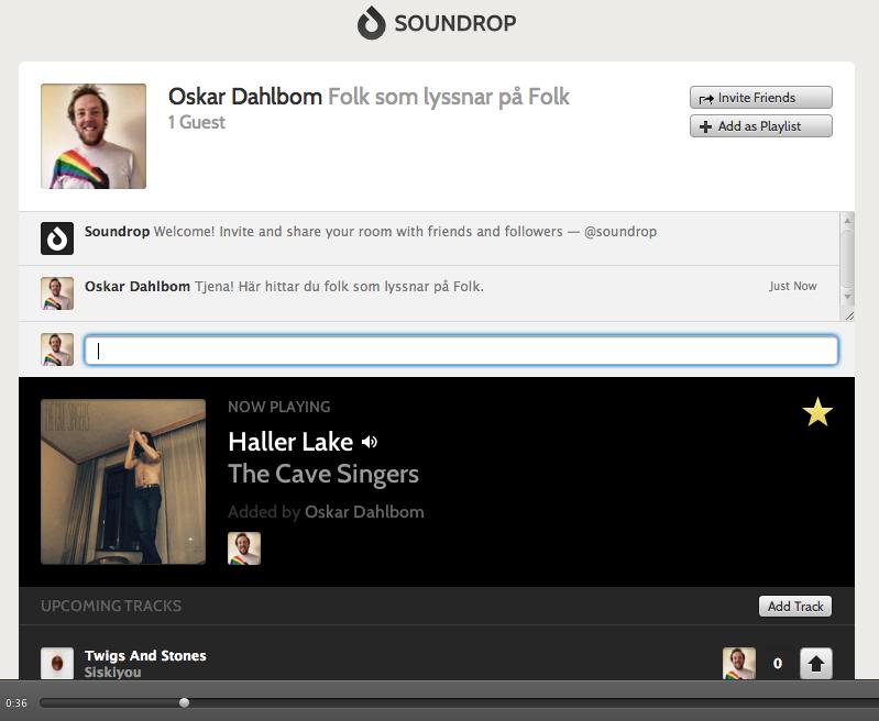 Soundrop i Spotify - Folk som lyssnar på folk