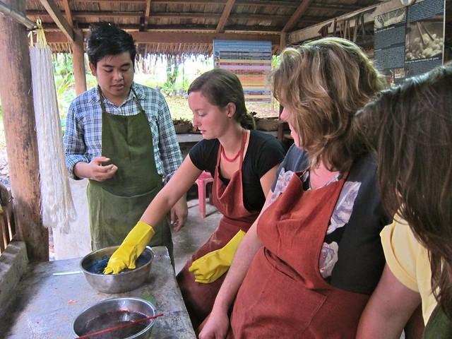 Natural Dyes Class, Luang Prabang, Laos