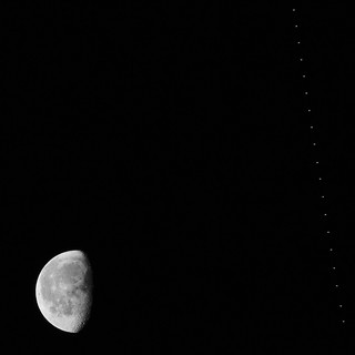 International Space Station flyby over SF, 14th January