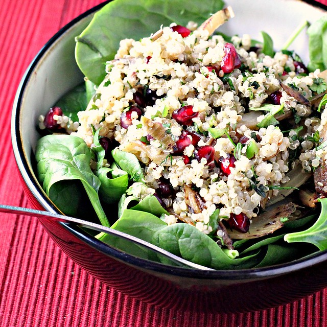 ... quinoa, fennel and pomegranate salad does it all. For the recipe