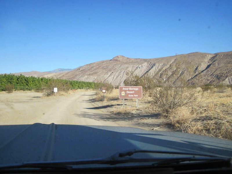 Coyote Canyon Road at Di Giorgio Road