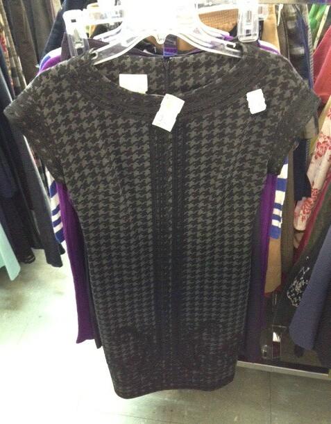 Donna Morgan houndstooth dress
