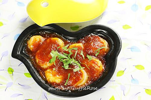 辣炒蝦仁。小雞料理盤食譜-120117