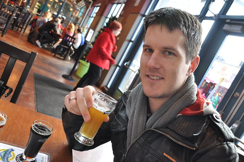 Drinking at Granville Island Brewery
