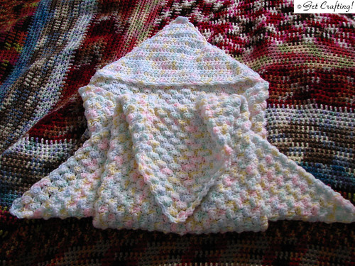 Discover Knit and Crochet, textured baby blanket