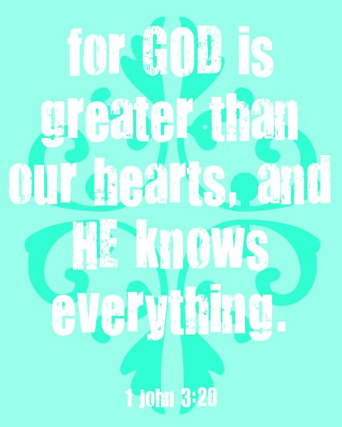 1 john 3:20 aqua