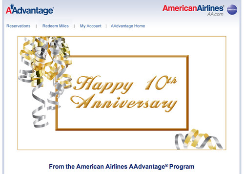 Happy Anniversary From American Airlines
