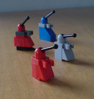 Micro scale Daleks in LEGO® pieces