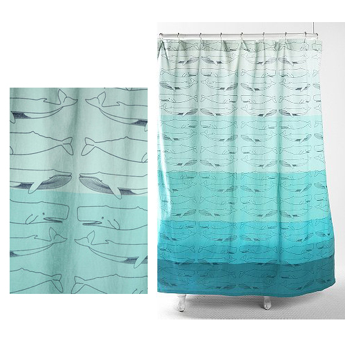 Urban Outfitters Whale Shower Curtain