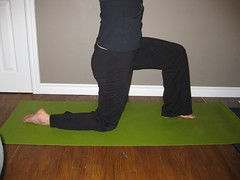 Hip Flexor stretch start position