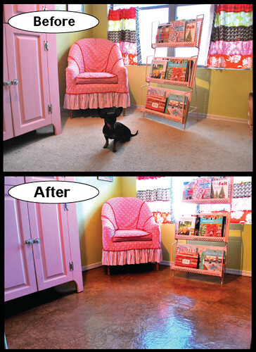 before and after new floor