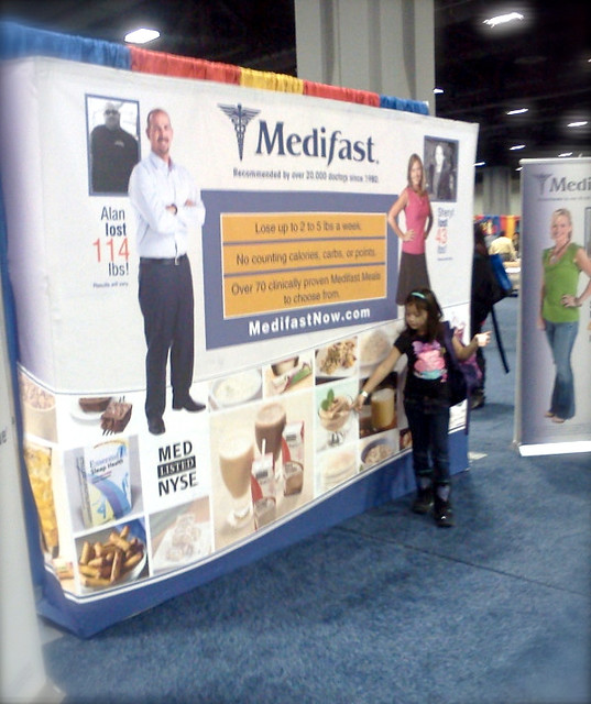 Medifast booth at NBC Health Expo