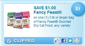 Fancy Feast Gourmet Dry Cat Coupon