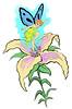 Orchid Fairy  Temporary Tattoo design.