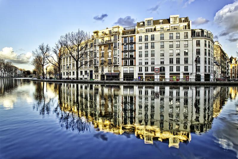 Reflet sur le Canal Saint-Martin