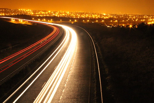 A27 looking over Hangleton at night