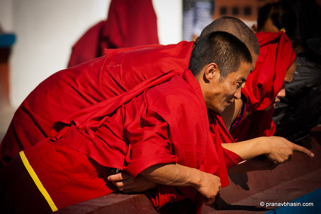 Monks In Joy by Pranav Bhasin
