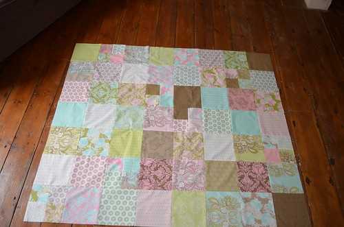 Stash Squares Quilt Top