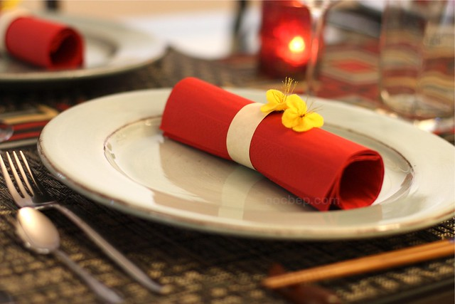 Lunar new year table setting