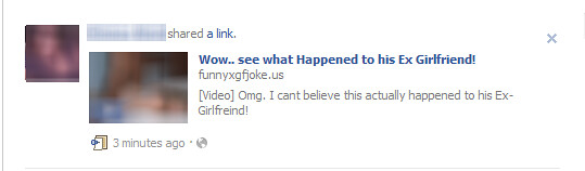 Wow See What Happened to His Ex Girlfriend - Facebook Scam