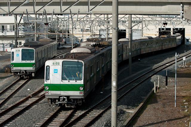 東京メトロ千代田線 6000系 6135F 廃車解体