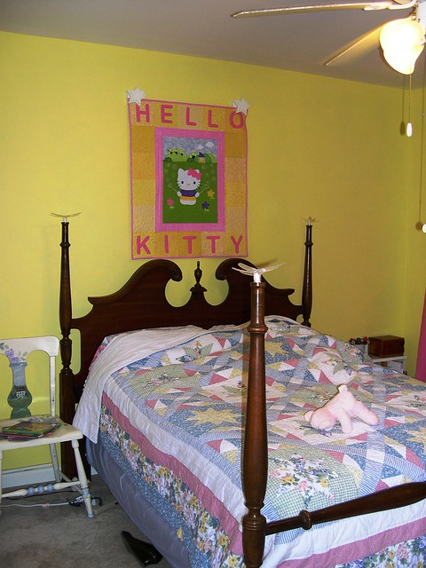 Hello Kitty over the bed