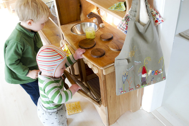 waxing the play kitchen