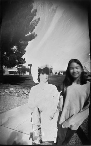 Nellie Cashman and my daughter pal-ing around at Cochise College by Crunchy Footsteps